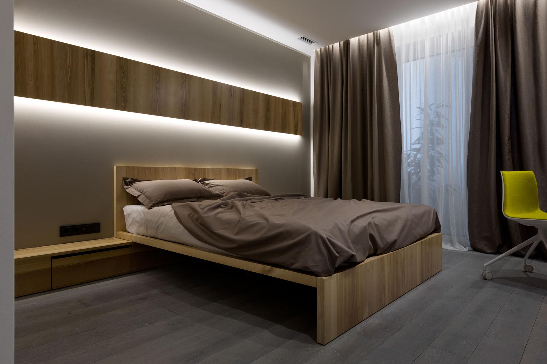 кровать на бруске с ящиками