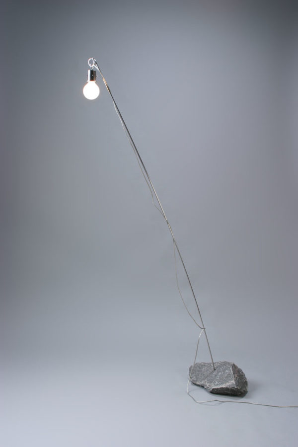 floor lamp on the stone LAMP