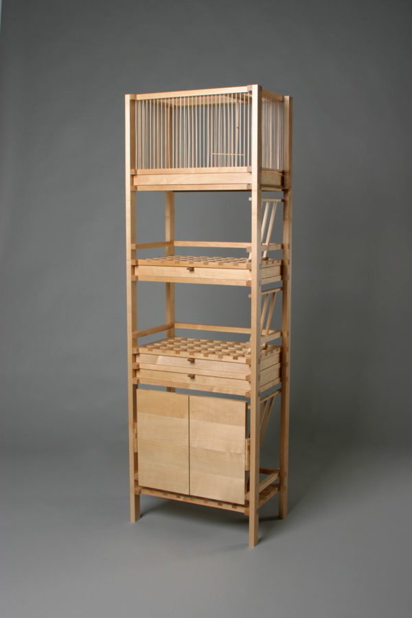 rack combination with birdcage