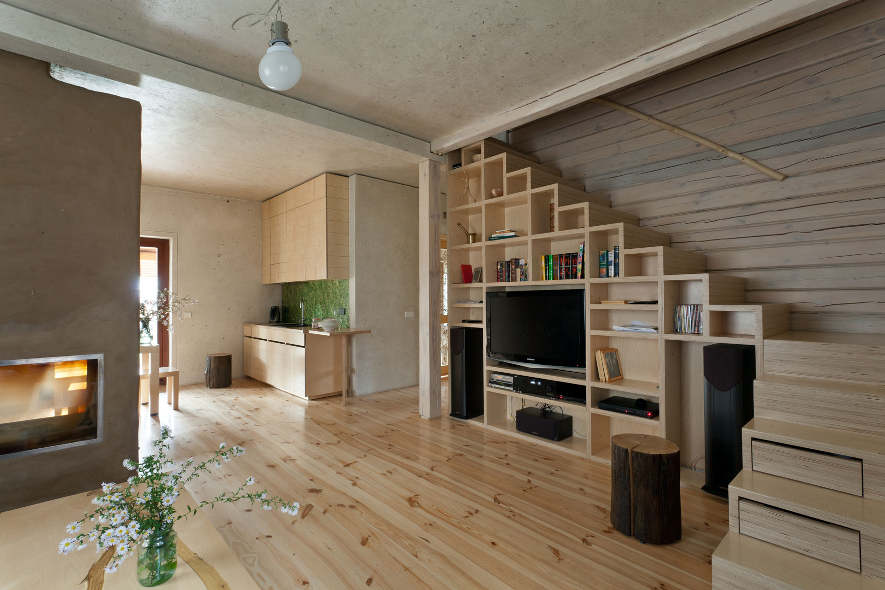 staircase with storage system