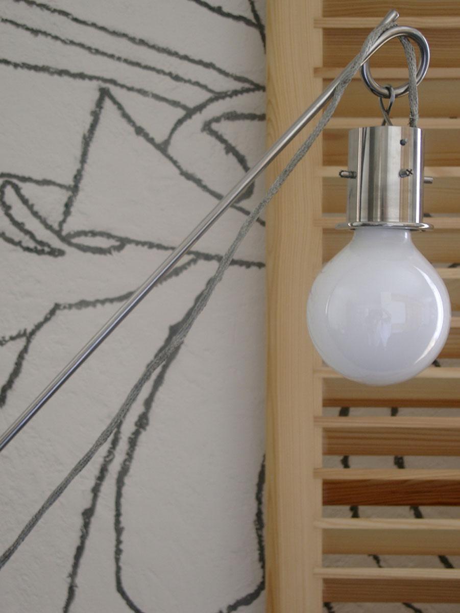 торшер на натуральнoм камне LAMP