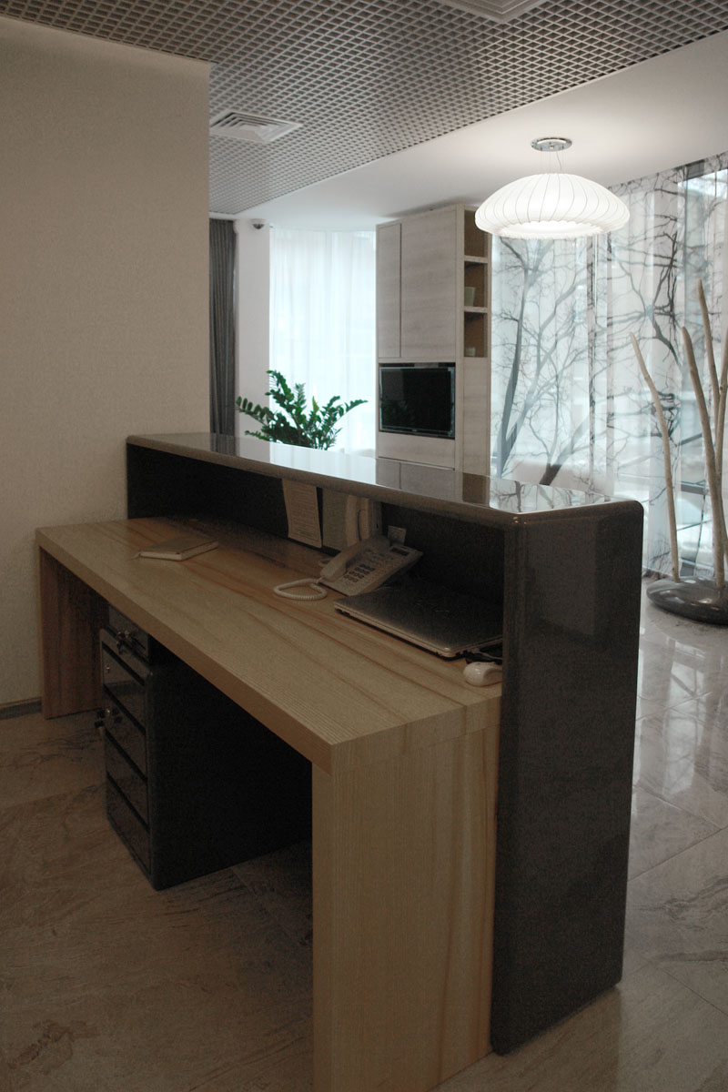 reception desk W60 for 2 workers