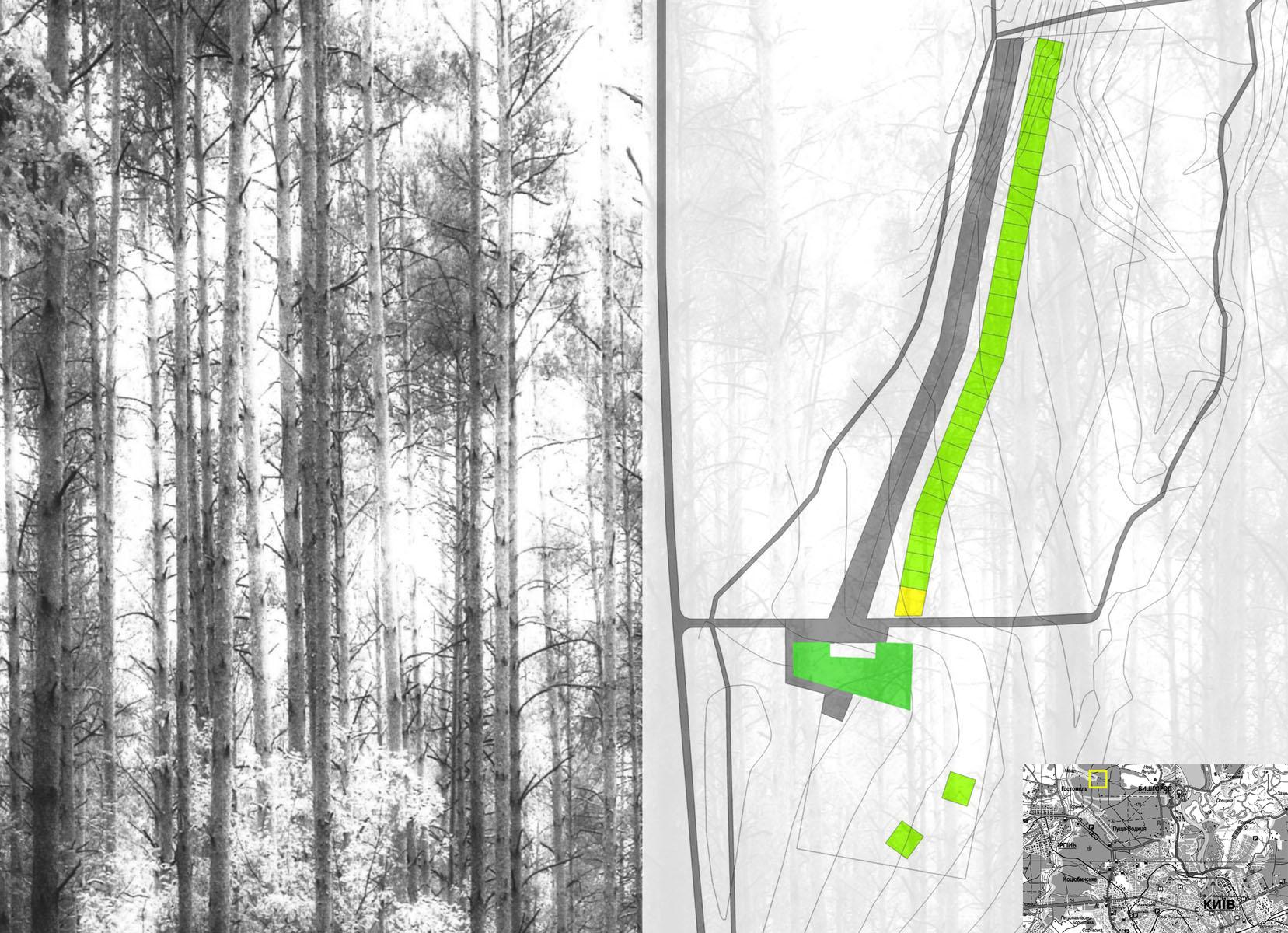 3 3ГА поселок в лесу